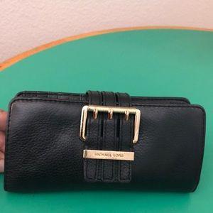 Michael Kors Black Leather Clutch Wallet